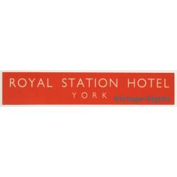 York / UK: Royal Station Hotel (Vintage Luggage Label)