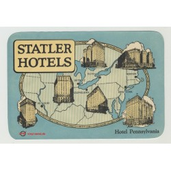 Hotel Pennsylvania - Statler Hotels / USA (Vintage Luggage Label)