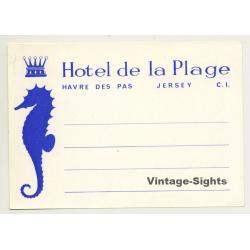 Havre Des Pas, Jersey / UK: Hotel De La Plage (Vintage Luggage...