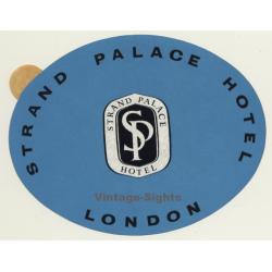 London / UK: Strand Palace Hotel (Vintage Self Adhesive...