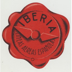 Iberia Lineas Aereas Españolas / Spain (Vintage Luggage Label)