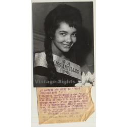 Claude Modock / Miss Antilles 1961 (Vintage Press Photo...