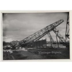 Pierre Chapuis / Rouen: Destroyed Transporter Bridge (Vintage...