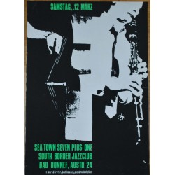 Sea Town Seven Plus One / South Border Jazzclub (VIntage Jazz Concert Screen Print)