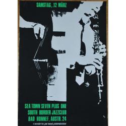 Sea Town Seven Plus One / South Border Jazzclub (VIntage Jazz Concert Screen Print)