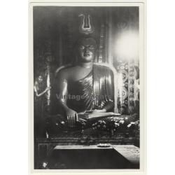 Java / Indonesia: Large Buddah Statue / Temple (Vintage Photo...