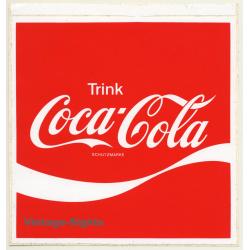 Trink Coca Cola Schutzmarke (Vintage Sticker 21 x 20 CM ~1980s)
