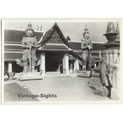 Indonesia: Stone Gatekeepers In Front Of Temple Hall (Vintage...