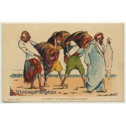 Morocco: Li Beaux Tapis, Li Peau Di Mouton / Field Postmark...