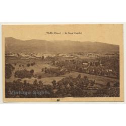 Taza / Morocco: Le Camp Girardot / Field Postmark (Vintage PC...