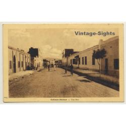 Colomb Béchar / Algeria: Une Rue / Field Postmark Base...