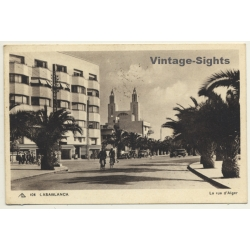 Casablanca / Morocco: La Rue D'Alger / Field Postmark 37...