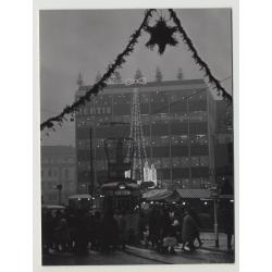Wuppertal: Hertie Kaufhaus Weihnachten 1965 Neumarktstr.1 (Vintage Real Photo)