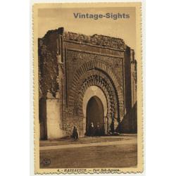 Marrakech / Morocco: Fort Bab-Agnaou / Field Postmark Escadre...