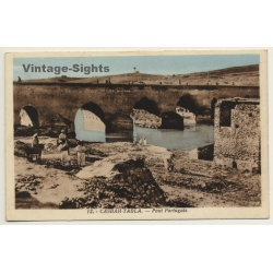 Kasbah-Tadla / Morocco: Pont Portugais / Field Postmark Base...