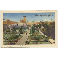 Rabat / Morocco: Le Jardin Des Oudaïa / Field Postmark...