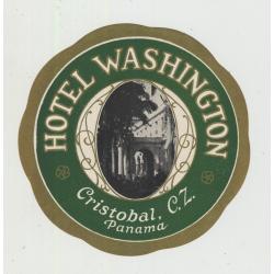 Hotel Washington - Christobal / Panama (Vintage Luggage Label)