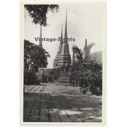 Bangkok / Thailand: Wat Pho Temple Complex (Vintage Photo ~1930s)
