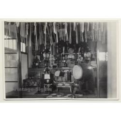 Japan: Temple Altar - Drum - Buddhism (Vintage Photo ~1930s)