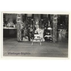 Japan: Temple Inside Cemetry - Buddhism (Vintage Photo ~1930s)