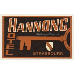 Strasbourg / France: Hotel Hannong (Vintage Luggage Label)