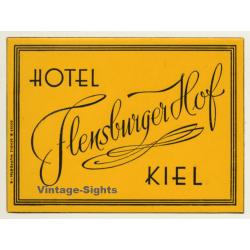 Kiel - München / Germany: Hotel Flensburger Hof (Vintage...