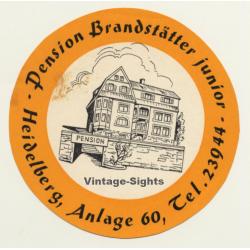 Heidelberg / Germany: Pension Brandstätter Junior (Vintage...