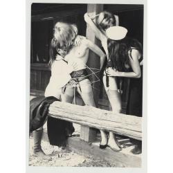 Bizarre Lesbian Cowgirl Bondage Scene 5 / BDSM - Small Breast (Vintage Photo Master 60s/70s)