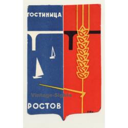 Russia: гостиницд ростов / Hotels in Rostow (Vintage Luggage...