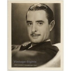 John Gilbert - Actor / M.G.M. JG-52 (Vintage Press Photo ~1930s)