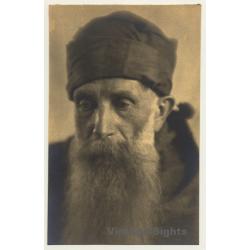 Old Belgian Monk With Huge Beard *2 (Vintage RPPC ~1910s/1920s)