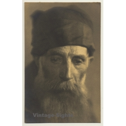 Old Belgian Monk With Huge Beard *3 (Vintage RPPC ~1910s/1920s)