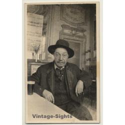 Belgium: Elder Man Drinks Beer In Brasserie (Vintage RPPC...