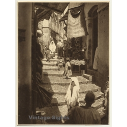 Maghreb: Old Town Alley / Store - Local People - Veil (Vintage...
