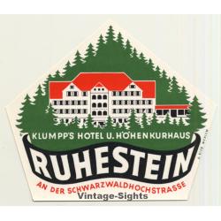 Klumpp's Hotel U. Höhenkurhaus - Ruhestein / Germany (Vintage...
