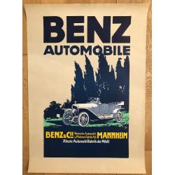Benz Automobile - Älteste Automobilefabrik Der Welt (Poster DIN A1 1980s) DAIMLER MERCEDES