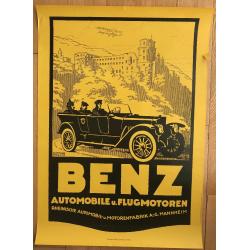 Benz Automobile U. Flugmotoren (Poster DIN A1 1970s) LEHMANN STEGLITZ