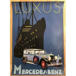 Luxus Mercedes Benz (Poster DIN A1 1980s) CUCUEL OFFELSMEYER