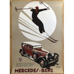 Mercedes Benz - Herrscher Über Raum Und Zeit (Poster DIN A1 1980s) E. CUCUEL