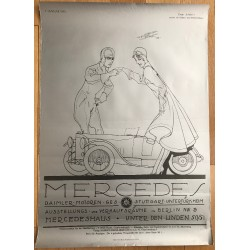 Mercedes 1. Januar 1918 (Poster DIN A1 1980s) ARBITER - DAIMLER BENZ