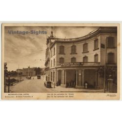 Barcelona: Metropolitan Hotel / Facade & Entrance (Vintage PC...