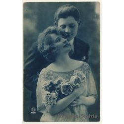 P.C Paris 1152 / Belle Epoque: Couple In Love / Roses (Vintage...