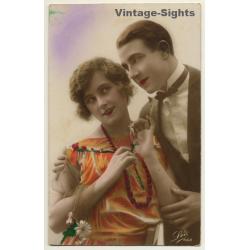 Léo De Pradet 563 / Belle Epoque: Couple In Love (Vintage Hand...