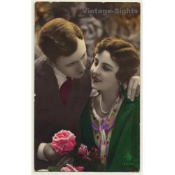 SOL 3344 / Belle Epoque: Couple In Love / Rose (Vintage Hand...