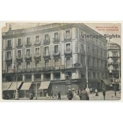 Puerta Del Sol / Madrid: Hotel Cervantes (Vintage PC 1913)