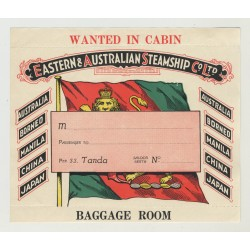 Eastern & Australian Steamship Co Ltd (Vintage Cabin Luggage Label)