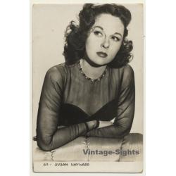 Susan Hayward / Actress - 411 (Vintage Fan RPPC 1940s)