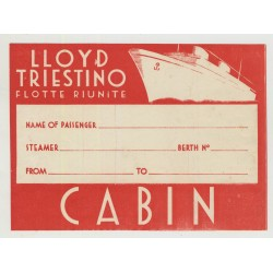 Lloyd Trestino Flotte Riunite (Vintage Shipping Line Luggage Label)