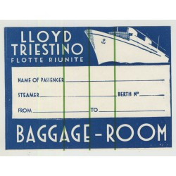 Lloyd Trestino Flotte Riunite (Vintage Baggage Room Luggage Label)