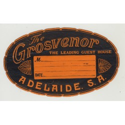 The Grosvenor Hotel - Adelaide S.A. / Australia (Vintage Luggage Label)